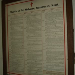 List of vicars at St Nicholaas
