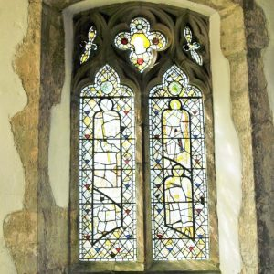 The south window in the south aisle
