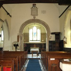 The nave and restored chancel arch