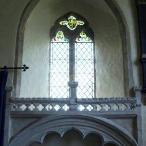 15th century cusped tomb recess
