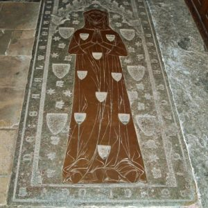 The Margaret Camoys medieval brass