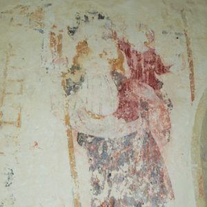 One of the nave murals