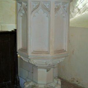 Victorian stone pulpit