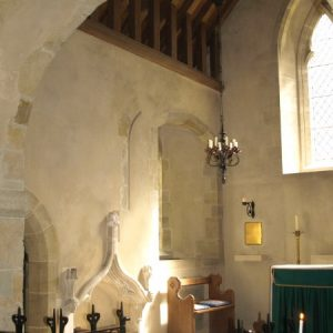 The north-east section of the chancel