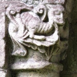 Detail of ornate capital to north doorway