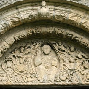 Detail of south doorway tympanum
