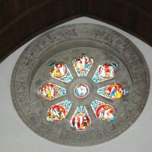 The wheel window from inside