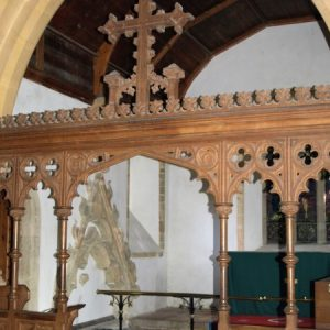 The chancel screen and rood