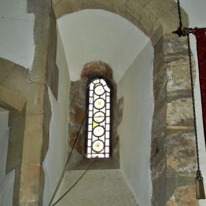 Norman window in the north chancel wall