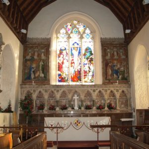 The chancel with marble reredos