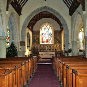 The nave and weeping chancel