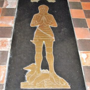 Sir William Scott brass
