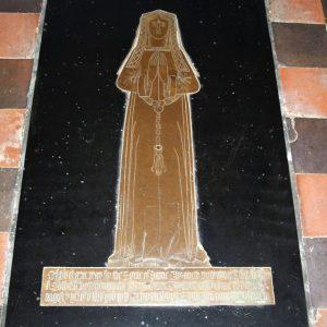 Dame Elizabeth Pownynges brass