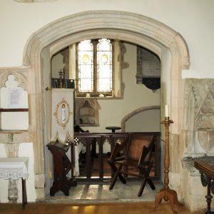 Tomb recess between chancel and south chapel