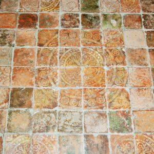 14th century floor tiles in the chancel