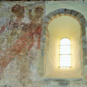 Mural on the nave north wall
