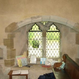 A south window in the south aisle