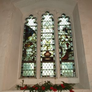 Decorated period window in the nave south wall