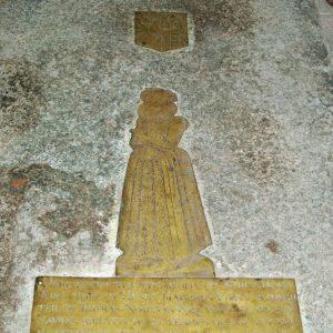 Brass in nave floor