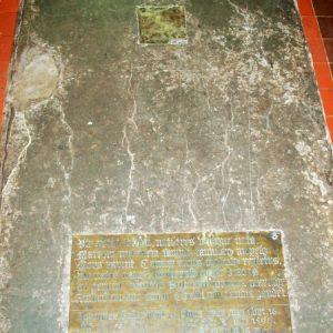 A floor brass to John Halke