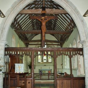 15th century oak rood screen