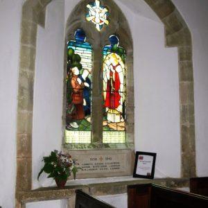 The two light war memorial window