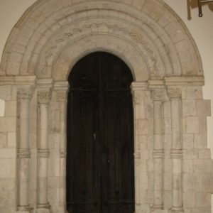 Norman arch on other side of doorway