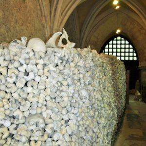 The ossuary at St Leonard's