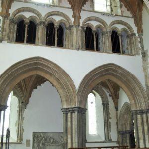 Chancel arches, triforium, and clerestory