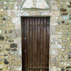 Plain north doorway