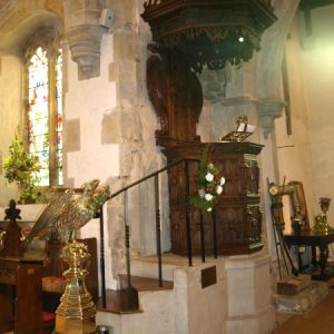 The lectern and pulpit