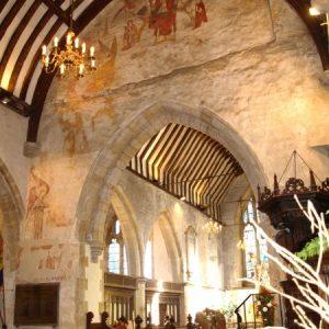 Wall paintings at St Deny's