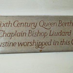 Queen Bertha plaque
