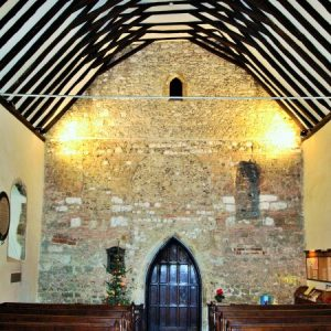 The Saxon nave with 14th century roof