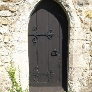 The priest's door in the south wall of the chancel