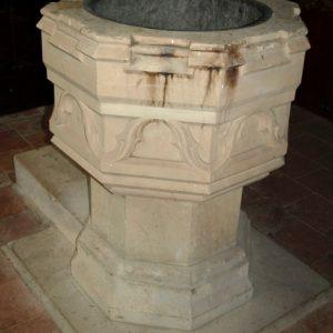 Victorian octagonal font
