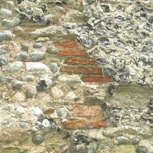 salvaged Roman bricks