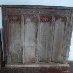 14th century oak panel