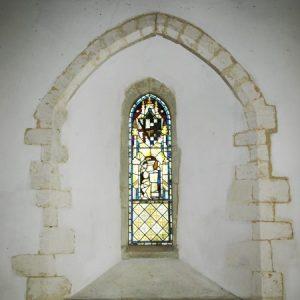 North chancel lancet window