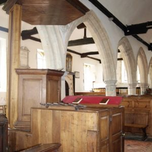 The pulpit and south arcade