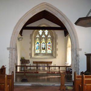 Brenzett church chancel arch