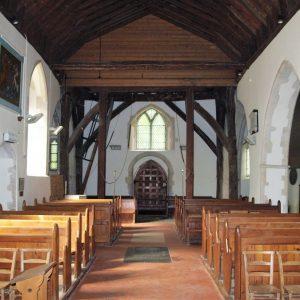 Brenzett church nave