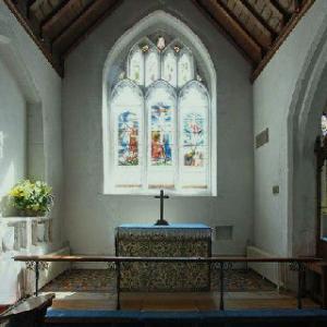 Chaldon church chancel