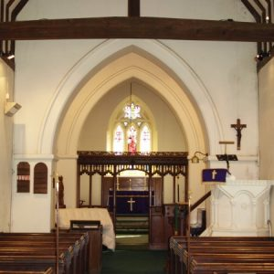 The nave looking towards the crossing and chancel