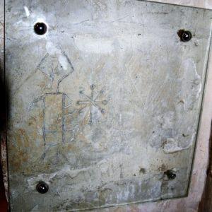 Rare crusader graffiti