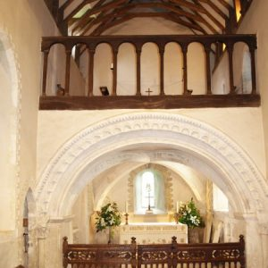 The sanctuary arch and balustrades