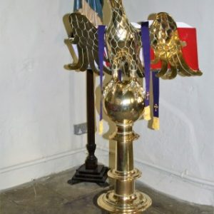 The brass lectern