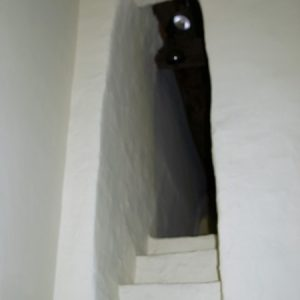 Rood stairs and opening
