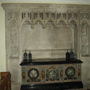 Tomb chest in the north chapel