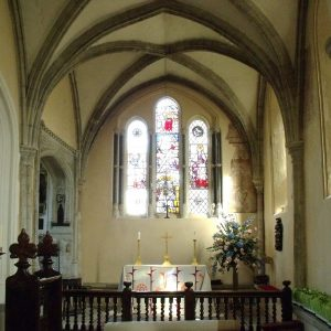 13th century 'weeping' chancel